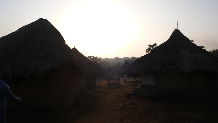 The village of Bassando at sunrise.